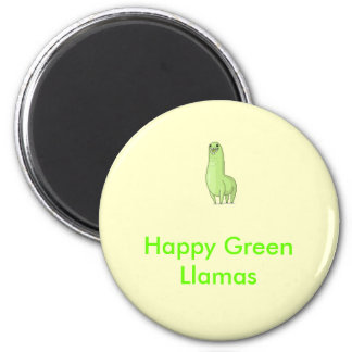 happy green llamas Magnet