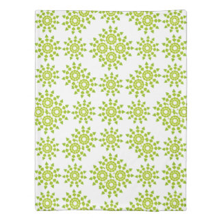Happy Green Twin Size Duvet Cover