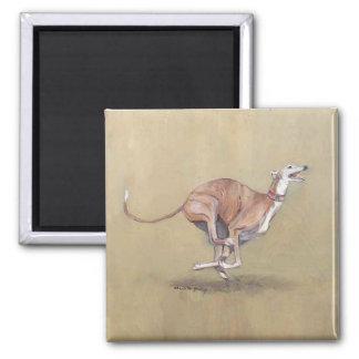 Happy Greyhound Dog Art Magnet