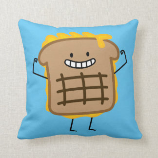 Happy Grilled Cheese Sandwich Throw Pillow