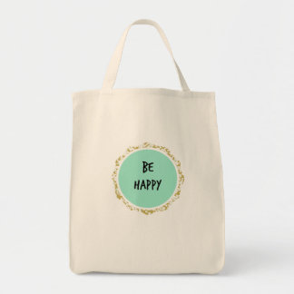 Happy Grocery and Farmer's Market Tote Bag