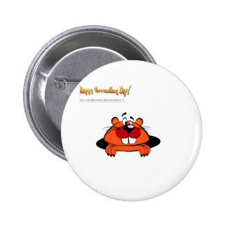 Happy Ground Hog Day 2 Inch Round Button