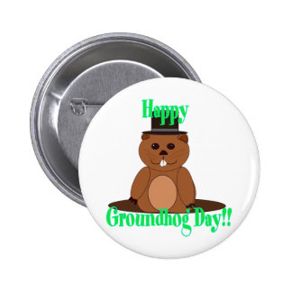 Happy Groundhog Day! 2 Inch Round Button