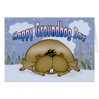 Happy Groundhog Day Card