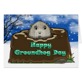 Happy Groundhog Day, Card