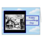 Happy Groundhog Day with groundhog watching tv Card