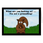 Happy Groundhog Day with Squirrel funny humour Card