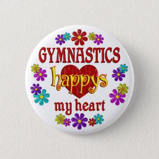 Happy Gymnastics 2 Inch Round Button