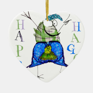 happy haggis ceramic ornament
