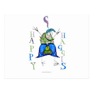 happy haggis postcard