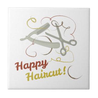 Happy Haircut Ceramic Tile