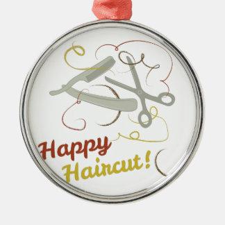 Happy Haircut Metal Ornament