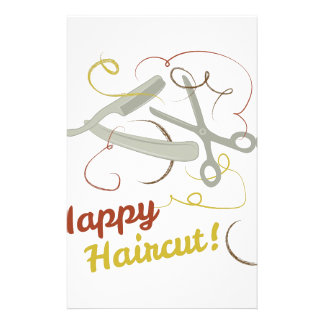 Happy Haircut Personalized Stationery