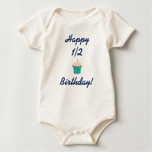 Happy Half Birthday 6 Month Baby Bodysuit