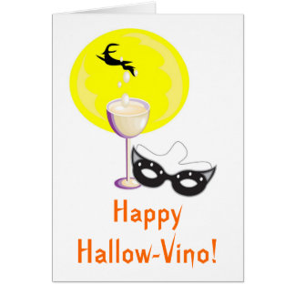 Happy Hallow-Vino! - Card