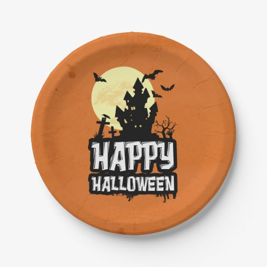 Happy Halloween 7 Inch Paper Plate