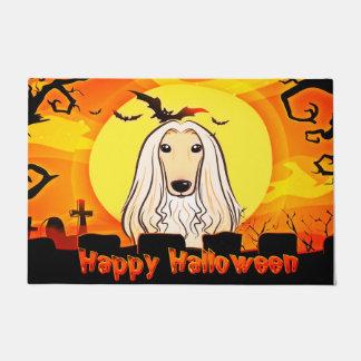 Happy Halloween Afghan Hound Doormat
