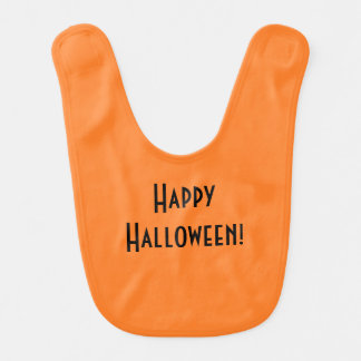 """Happy Halloween"" Baby Bib"