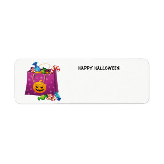 Happy Halloween bag full of candy