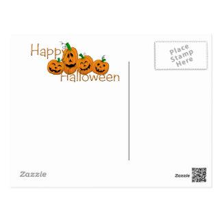 Happy Halloween bag full of candy Postcard