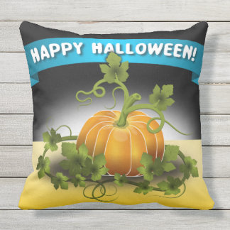 "'HAPPY HALLOWEEN""  BANNER THROW PILLOW"