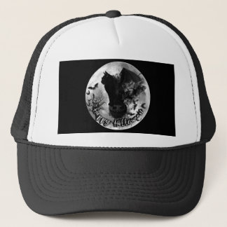 Happy Halloween Bat Cat Baseball Cap
