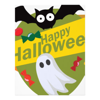 Happy Halloween Bats and Ghosts Letterhead