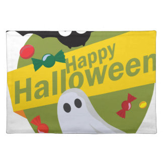 Happy Halloween Bats and Ghosts Placemat