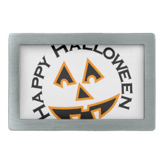 Happy Halloween Rectangular Belt Buckle