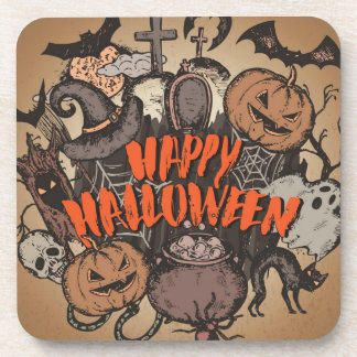 Happy Halloween! Beverage Coaster