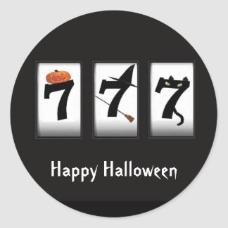 Happy Halloween Black 777 Sticker