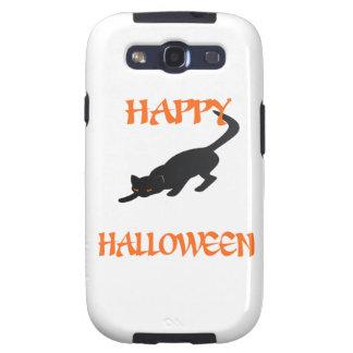 Happy Halloween Black Cat Samsung Galaxy S3 Covers