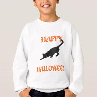 Happy Halloween Black Cat Sweatshirt