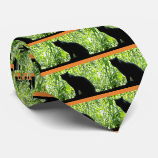 Happy Halloween Black Cat Tie