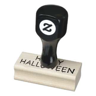 Happy Halloween (Bloody) Rubber Stamp