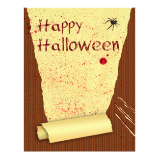 Happy Halloween Bloody Wallpaper - Letterhead