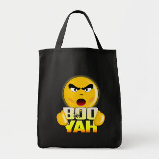 Happy Halloween Boo Yah - Funny Emoji Tote Bag