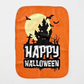 Happy Halloween Burp Cloth