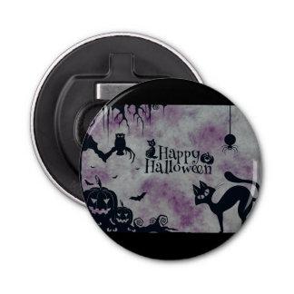 Happy Halloween Button Bottle Opener