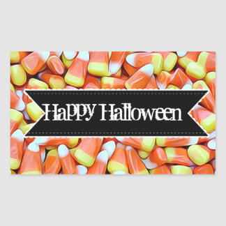 Happy Halloween Candy Candy Corn Stickers