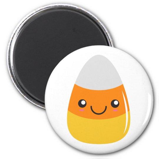 Happy Halloween Candy Corn Emoji 2 Inch Round Magnet