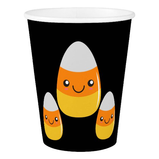 Happy Halloween Candy Corn Emoji Paper Cup