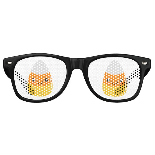 Happy Halloween Candy Corn Emoji Party Shades