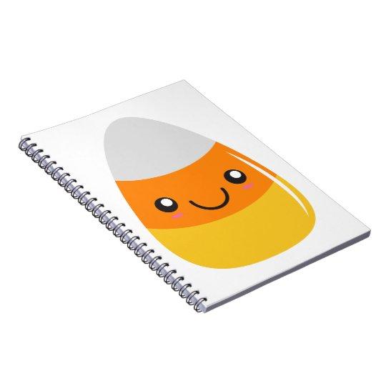 Happy Halloween Candy Corn Emoji Spiral Notebook