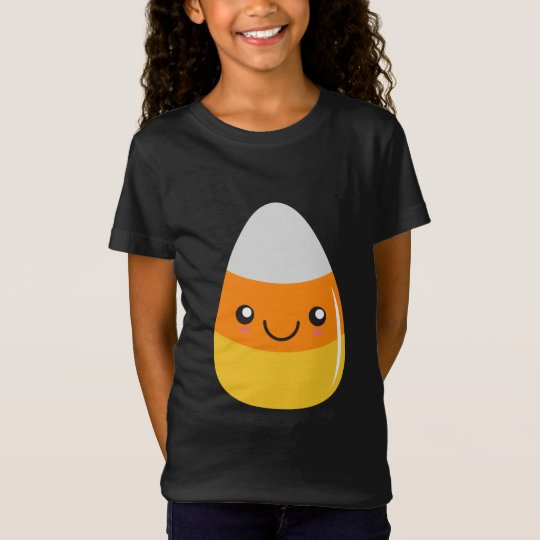 Happy Halloween Candy Corn Emoji T-Shirt