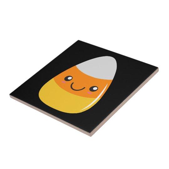 Happy Halloween Candy Corn Emoji Tile