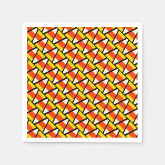Happy Halloween Candy Corn Pattern Disposable Napkins