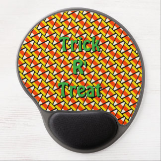 Happy Halloween Candy Corn Pattern Gel Mouse Pad