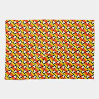 Happy Halloween Candy Corn Pattern Towel