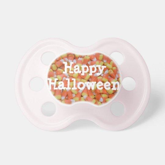 Happy Halloween Candy Corn Unique Baby Pacifier